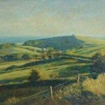 "Abbotsbury fromBishops Limekiln | Oil on canvas | 20"" x 30"""