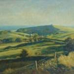 "Abbotsbury fromBishops Limekiln | Oil on canvas | 20"" x 30"""