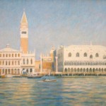 "Approaching San Marco, Venice | Oil | 16"" x 24"" 