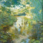 "Bridge Pool, Bradford Peverell | Oil on canvas | 40"" x 28"""
