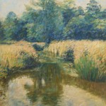 "Chalkstream, Stratton | Oil on canvas | 40"" x 30"""