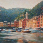 "Evening, Portofino, Liguria| Oil | 11.5"" x 16"""