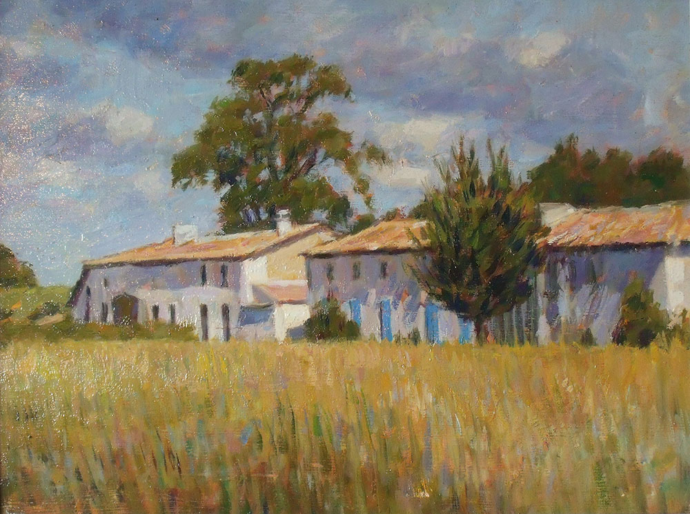 "Farmhouse, Olargue, Provence | Oil | 12"" x 16"""