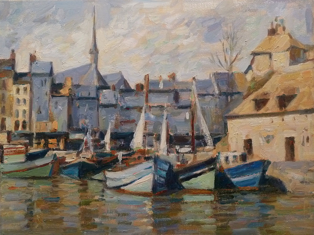 "Honfleur | Oil on canvas | 12"" x 16"""