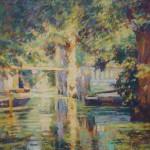 "La Baratte, Venise Verte |Oil | 18"" x 14"""