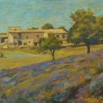 "Lavender Fields and Farmhouse , Provence | Oil on canvas | 12"" x 16"""
