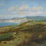 "Lyme Bay and Golden Cap | Oil on canvas | 20"" x 28"""