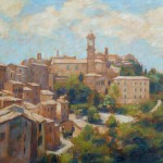 "Montepulciano 2 | Oil on board | 14"" x 18"" 