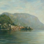 "Morning Calm, Varenna, Lake Como | Oil on board | 12"" x 16"""