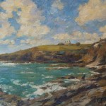 "Prussia Cove, Cornwall | Oil on canvas | 10"" x 12"" 