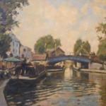 "Quayside, Little Venice, London | Oil on board | 14"" x 17"""