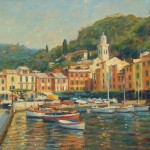 "Quayside Portofino | Oil on board | 16"" x 20"""