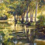 "Reflections, La Rigole, Venise Verte | Oil | 24"" x 30"""