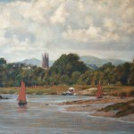 "River Dart Below Totnes | Oil | 14.5"" x 19"" 