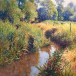 "River Frome, Bockhampton | Oil on canvas | 48"" x 36"" 