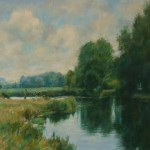 "River Test, Stockbridge | Oil on canvas | 14"" x 18"" 