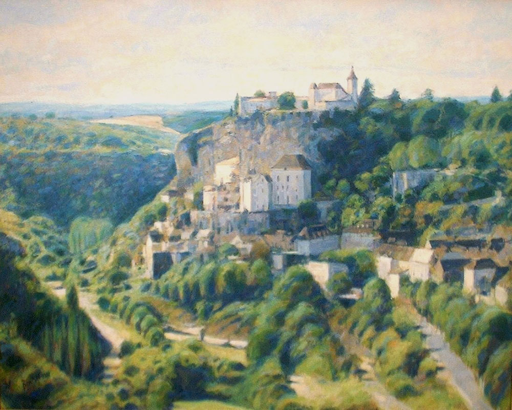 "Rocamadour, Dordogne | Oil | 24"" x 30"" 