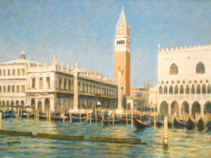 "San Marco and Doge's Palace, Venice | Oil | 12.5"" x 17"" 