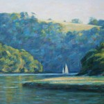 "Sharpham Bend, River Dart | Oil | 10.5"" x 14"" 