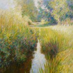 "Southover Chalkstream II | Oil on canvas |40"" x 30"" 