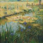 "Summer Pond 2010 | Oil on canvas | 40"" x 30"""
