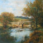 "Two Bridges, Dartmoor, Autumn | Oil on board | 13.5"" x 17.5"""