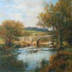 "Two Bridges, Dartmoor, Autumn | Oil on board | 13.5"" x 17.5"""