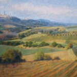 "View Towards San Gimignano | Oil on canvas | 30"" x 40"""