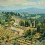 "Vineyards Below San Gimignano | Oil on canvas | 16.5"" x 22"""