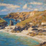 "Kynance Cove,Cornwall | oil on canvas |14""x18"""